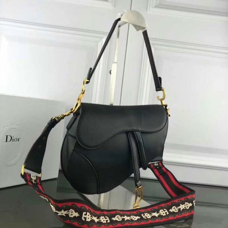 Dior Calfskin Saddle Bag M0446 Black