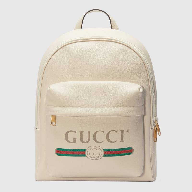 Gucci Print Leather Backpack 547834 White