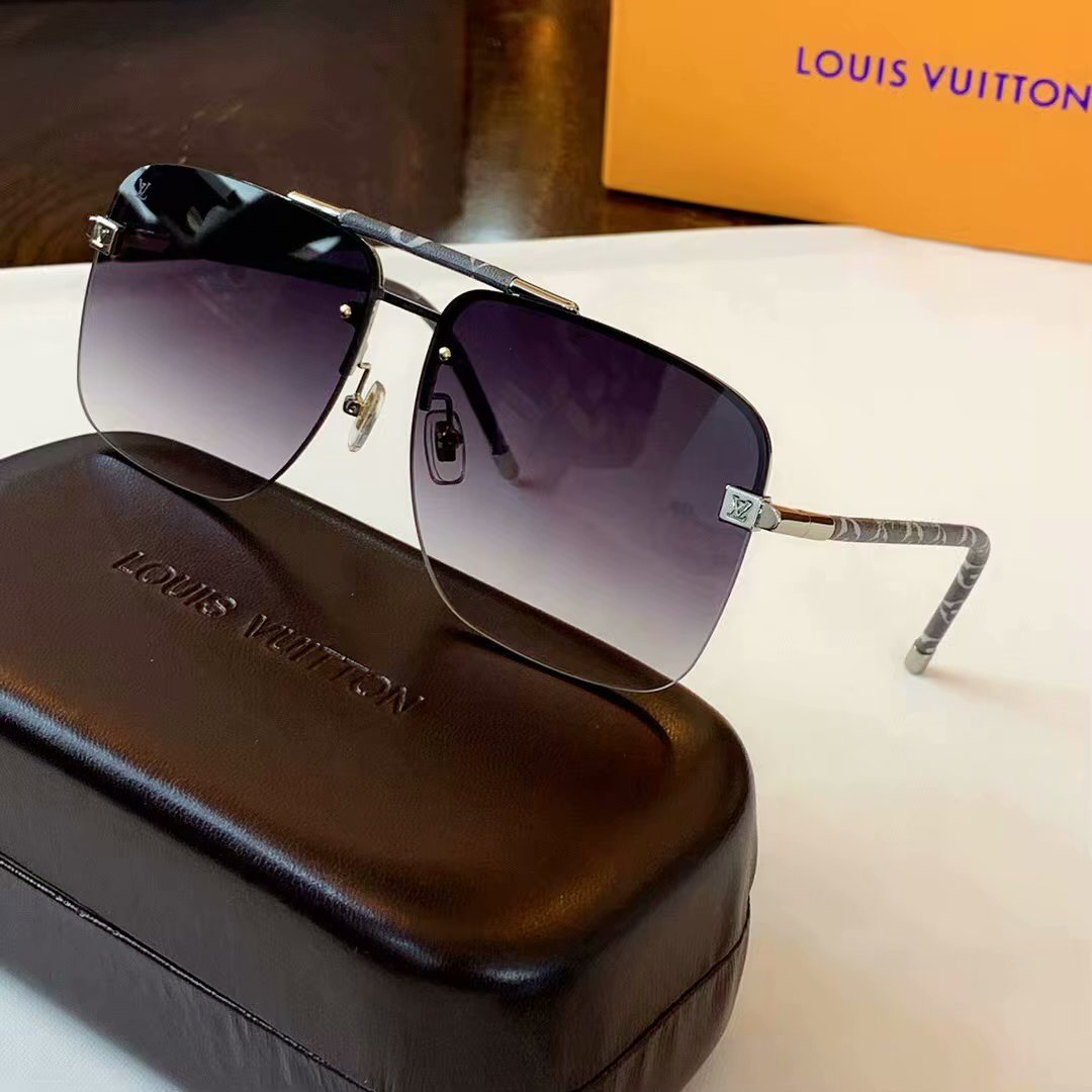 Louis Vuitton Clockwise Canvas Sunglasses Z1108E-1