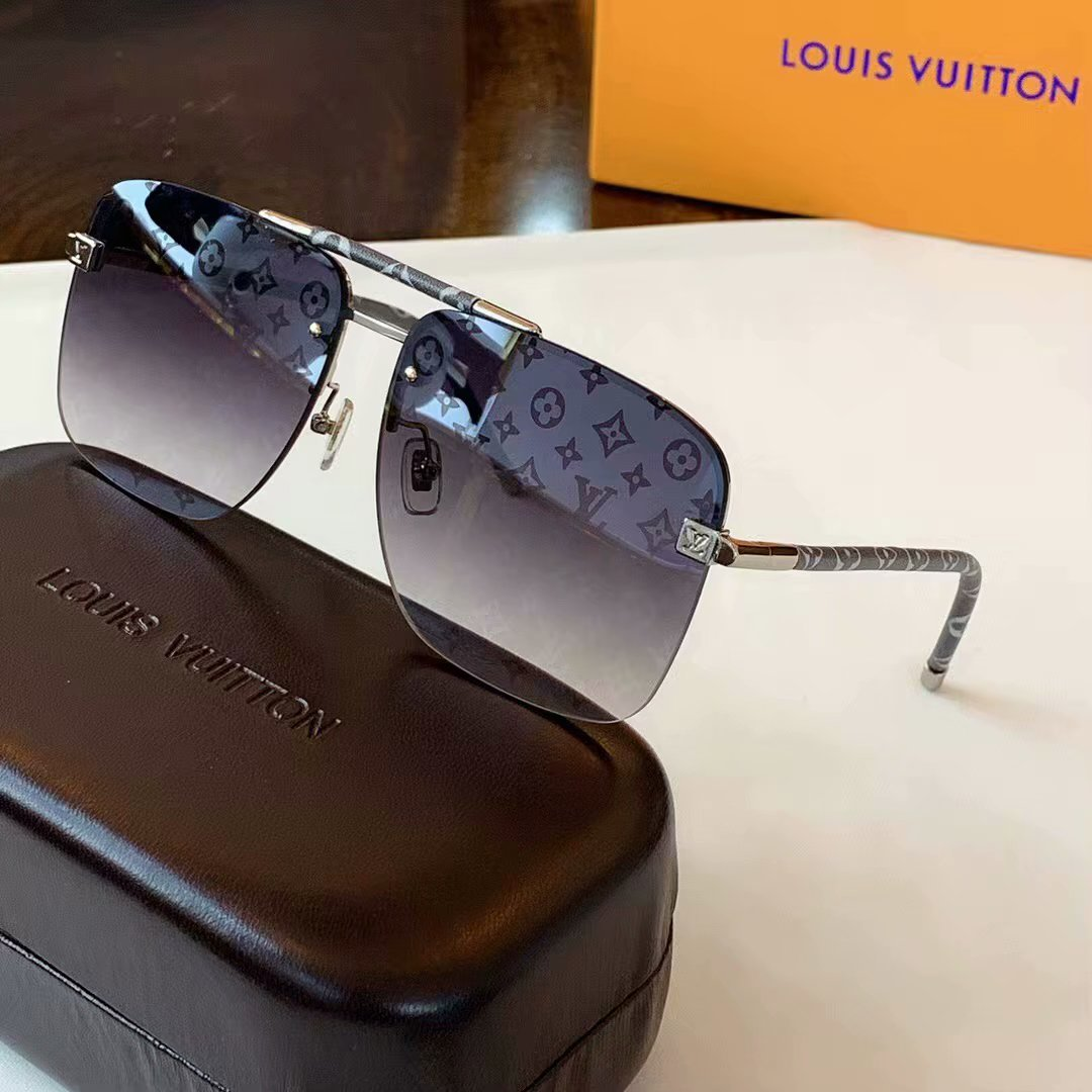 Louis Vuitton Clockwise Canvas Sunglasses Z1108E-2