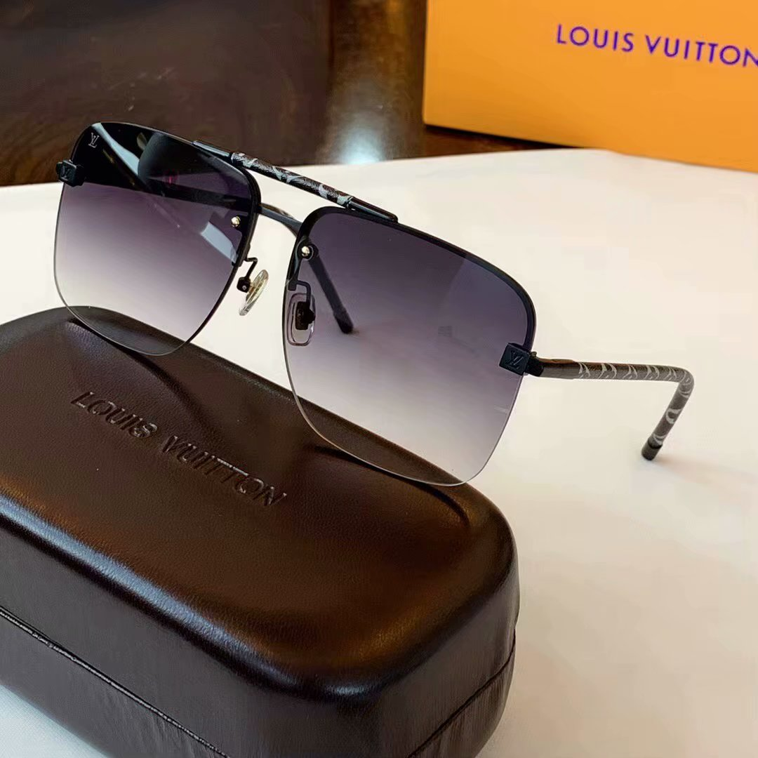 Louis Vuitton Clockwise Canvas Sunglasses Z1108E-3
