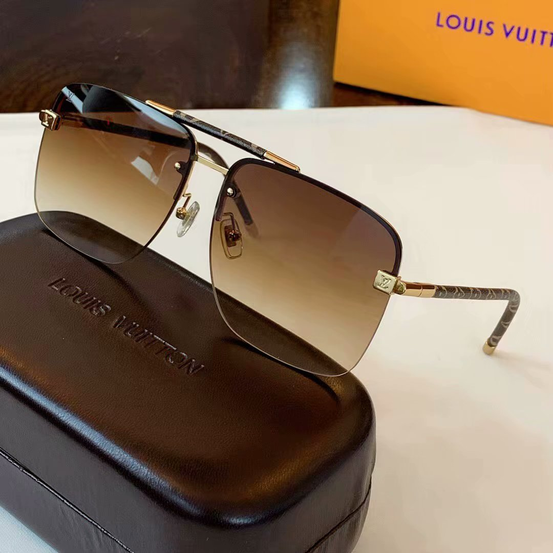 Louis Vuitton Clockwise Canvas Sunglasses Z1108E-4