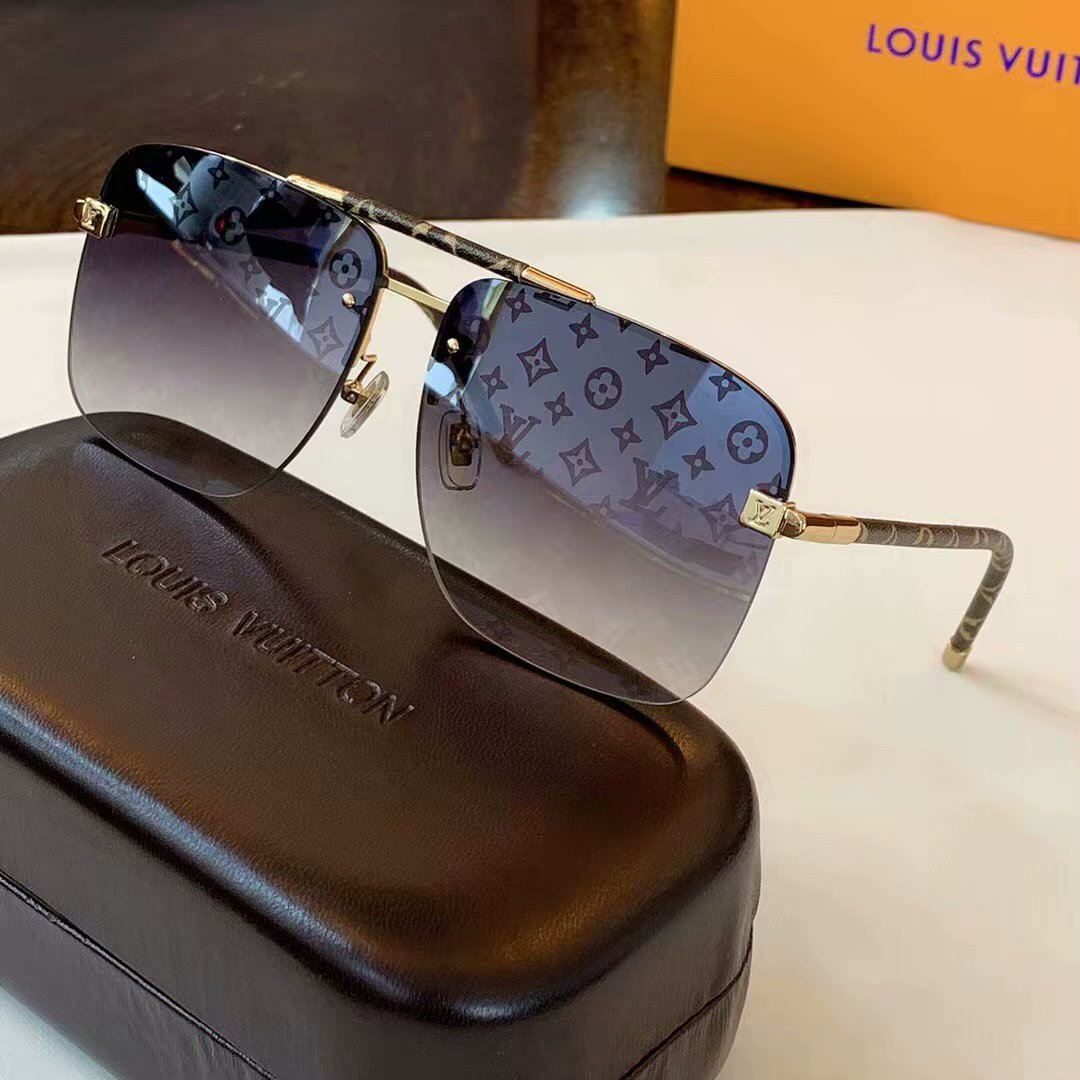 Louis Vuitton Clockwise Canvas Sunglasses Z1108E-5