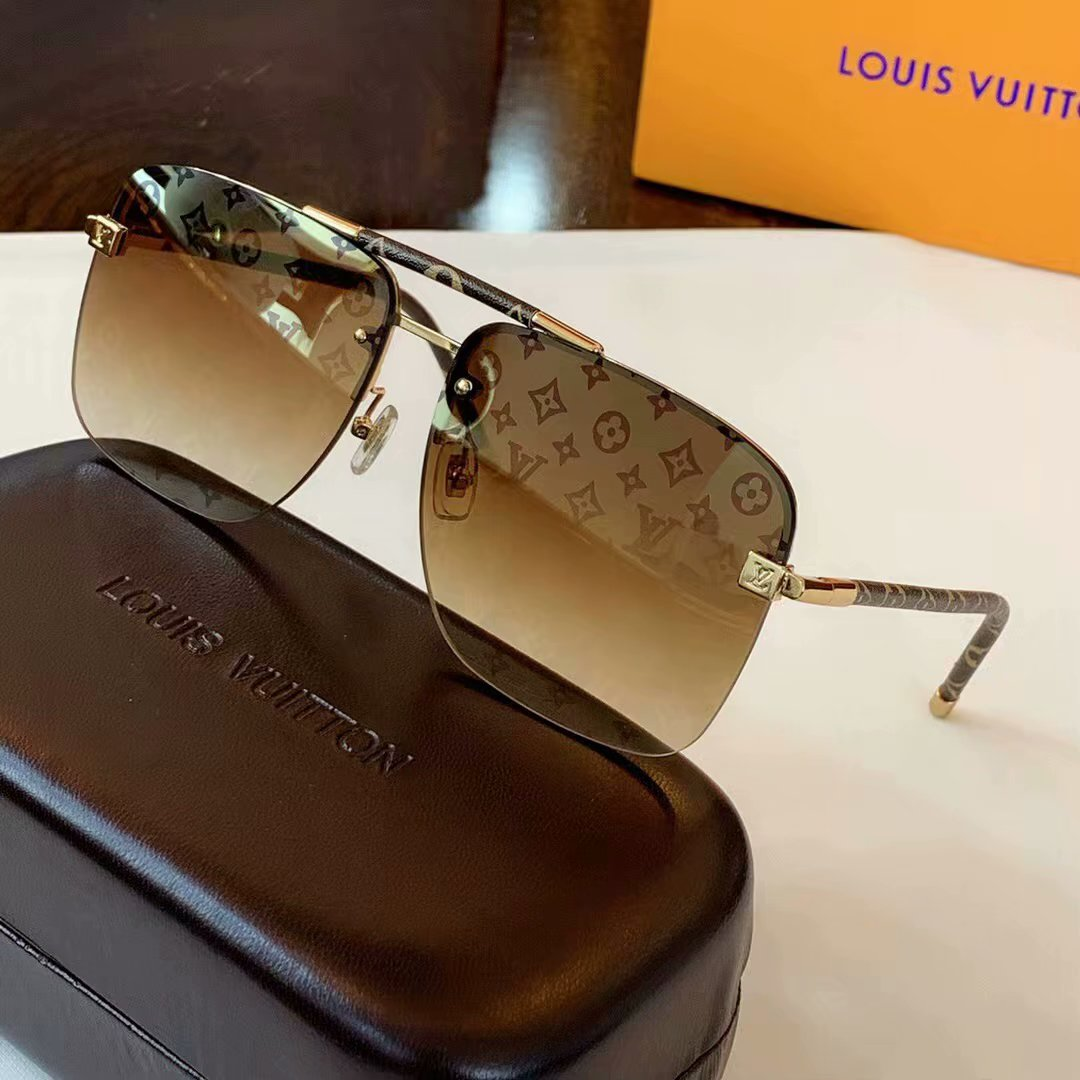 Louis Vuitton Clockwise Canvas Sunglasses Z1108E-7