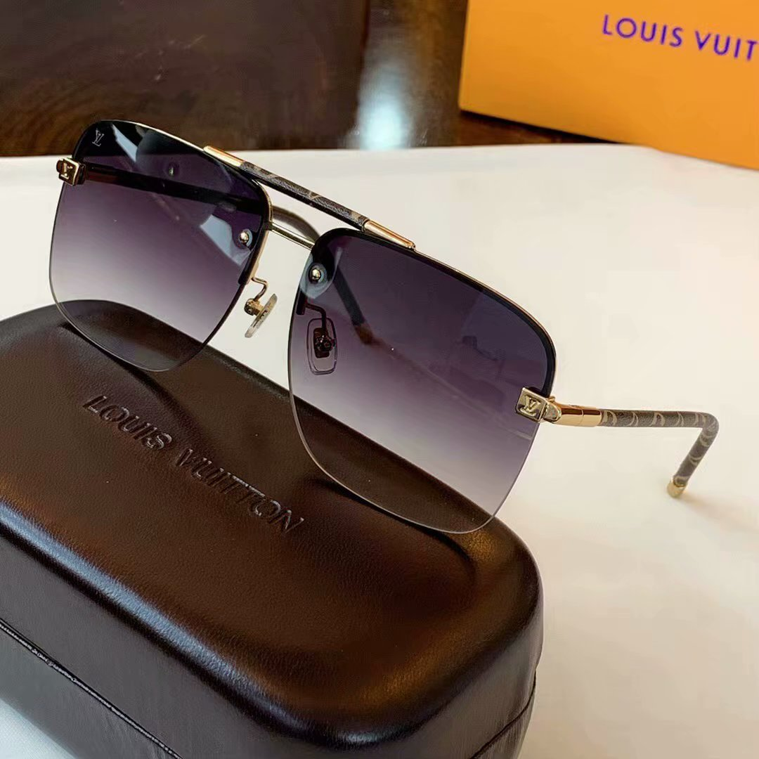 Louis Vuitton Clockwise Canvas Sunglasses Z1108E-8